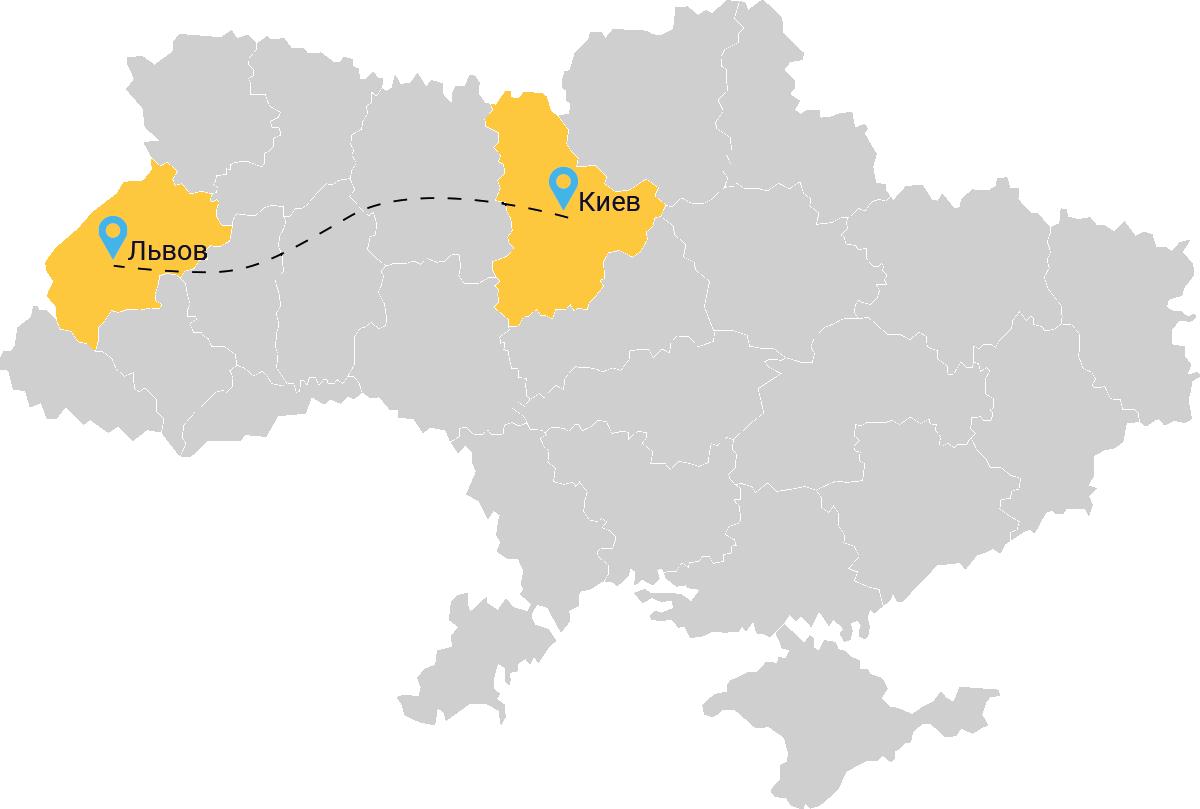Такси Киев Львов