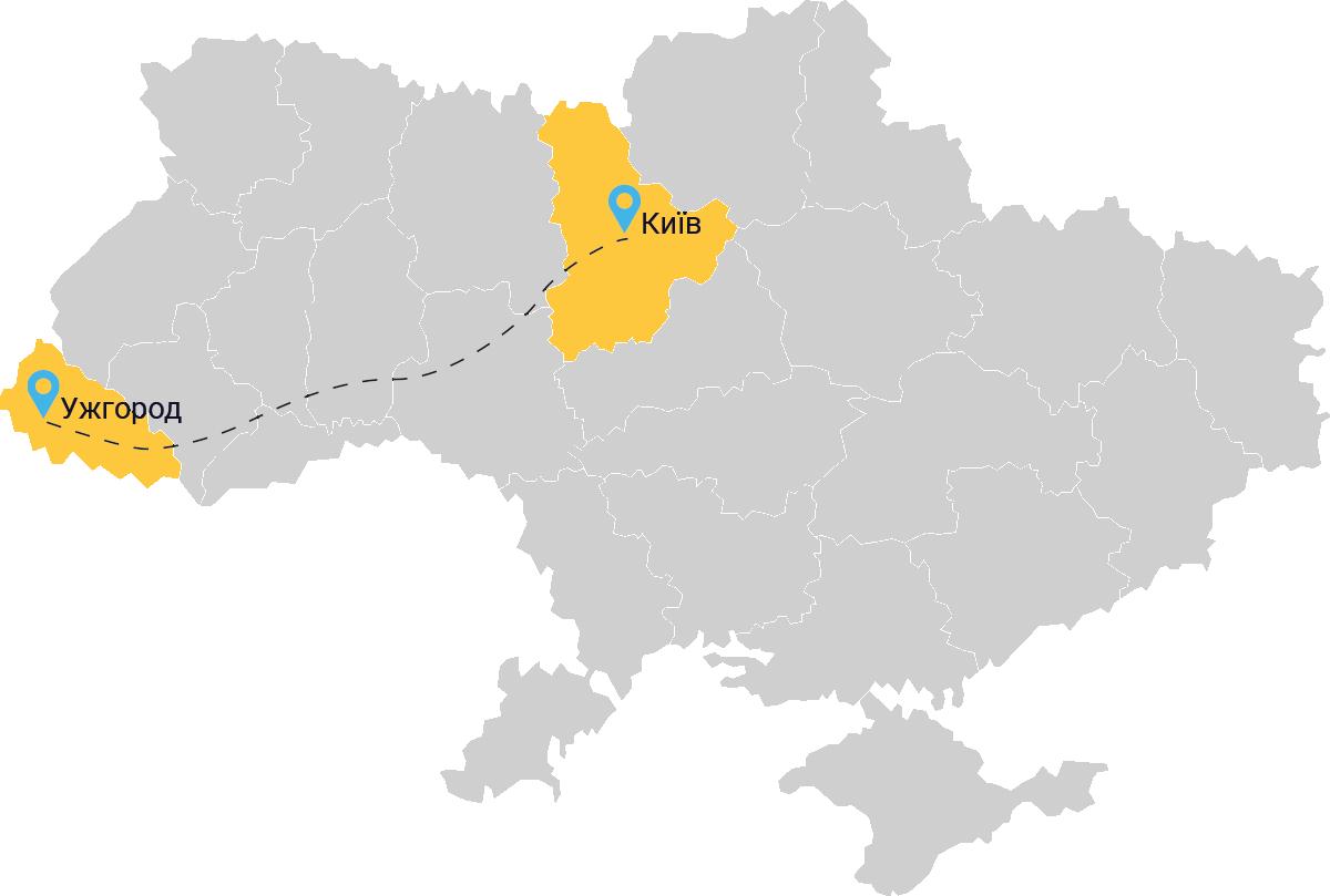 таксі Київ Ужгород